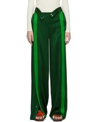 Valentino - Green Crepe Lounge Pants - Lyst