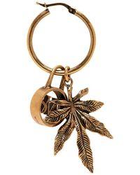 Stella McCartney - Gold Logo And Leaf Hoop Earring - Lyst
