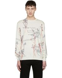 Alexander McQueen - White Explorer Thread Sweater - Lyst