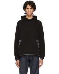 Moncler - Black Maglia Down-filled Hoodie - Lyst