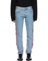 Levi's - Blue 501 Taper Sport Stripes Jeans - Lyst