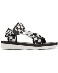 Suicoke - Black And White Depa-v2 Sandals - Lyst