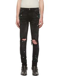 Amiri - Black Paint Splatter Jeans - Lyst