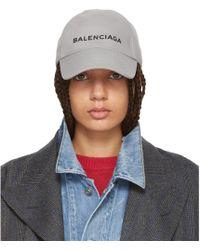 Balenciaga   Grey Logo Cap   Lyst