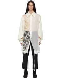 Ann Demeulemeester - Off-white Cupid Shirt - Lyst