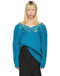 Balenciaga - Blue Lingerie Sweater - Lyst