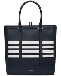 Thom Browne - Navy Four Bar Tote - Lyst