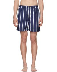 Solid & Striped - Blue And White Slate Bondi Stripe Classic Shorts - Lyst