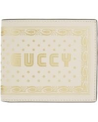 Gucci   Off-white Guccy Sega Logo Bifold Wallet   Lyst