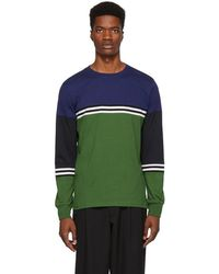 PS by Paul Smith - Green Organic Striped Long Sleeve T-shirt - Lyst