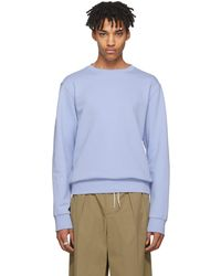 Maison Margiela | Blue Elbow Patch Sweatshirt | Lyst