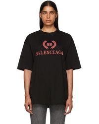 Balenciaga - Black Oversized Classic Bb T-shirt - Lyst