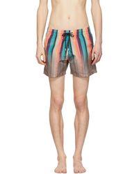 Paul Smith - Multicolour Artist Stripe Swim Shorts - Lyst