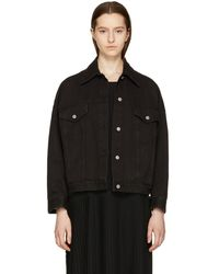 MM6 by Maison Martin Margiela - Black Denim Just Wash Jacket - Lyst