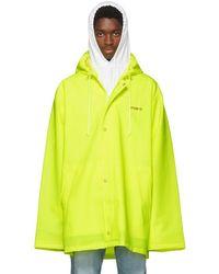 Vetements - Yellow Short Logo Raincoat - Lyst