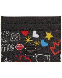 Dolce & Gabbana - Black Graffiti Card Holder - Lyst