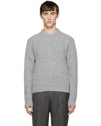 CALVIN KLEIN 205W39NYC - Grey Wool Sweater - Lyst