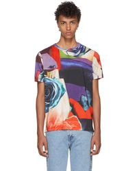 Paul Smith - Multicolor All Over Rose T-shirt - Lyst