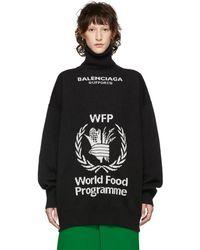 Balenciaga - Black World Food Programme Turtleneck - Lyst