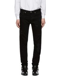 Givenchy - Black Destroyed Jeans - Lyst