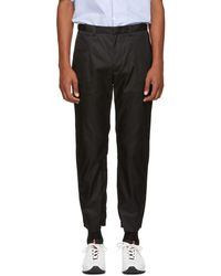 Prada - Black Nylon Gabardine Trousers - Lyst