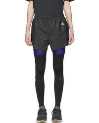 adidas Originals - Black Coated Shorts - Lyst