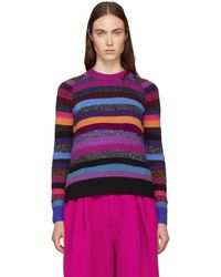 Marc Jacobs - Long Sleeve Striped Sweater - Lyst