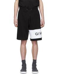 Givenchy - Short a logo brode noir - Lyst