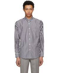 AMI - Ssense Exclusive Black And White Large Stripe Shirt - Lyst