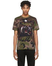 Givenchy - Khaki Camo Monkey Brothers T-shirt - Lyst