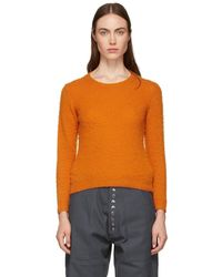 Acne Studios - Orange Shrunken Fit Crewneck Sweater - Lyst