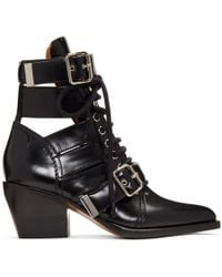 Chloé - Black Medium Rylee Boots - Lyst