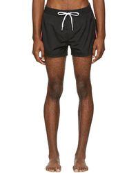 DIESEL - Black Striped Bmbx-sandy Swim Shorts - Lyst