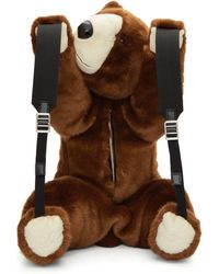Dolce & Gabbana - Brown Eco Fur Teddy Bear Backpack - Lyst
