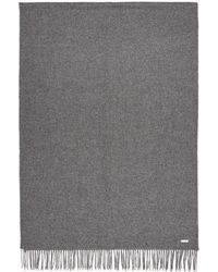 BOSS - Grey Oversized Lambswool Scarf - Lyst