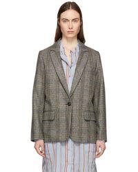 Étoile Isabel Marant - Beige And Grey Charly Oversized Blazer - Lyst