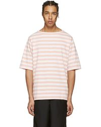 Acne Studios - Pink Striped Nimes T-shirt - Lyst