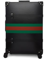 Gucci - Black Globe-trotter Edition Web Large Trolley Suitcase - Lyst