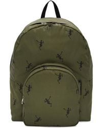 Alexander McQueen - Green Dancing Skeleton Backpack - Lyst