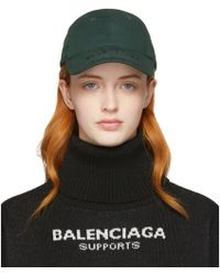 Balenciaga - Khaki Logo Cap - Lyst