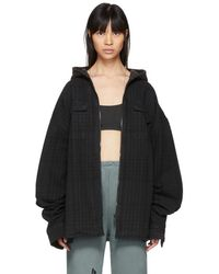 Yeezy - Black And Green Check Hooded Jacket - Lyst