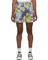 Noah - Blue And Multicolour Floral Rugby Shorts - Lyst