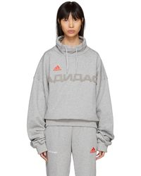 Gosha Rubchinskiy - Grey Adidas Originals Edition Funnel Neck Sweatshirt - Lyst