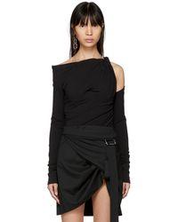 Alexander Wang | Black Long Sleeve Constructed Corset T-shirt | Lyst