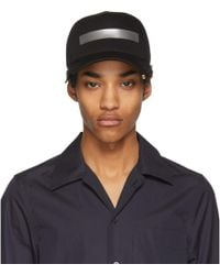 Neil Barrett - Black And Silver Tape Cap - Lyst