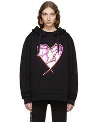 Dolce & Gabbana - Black Metallic Heart Hoodie - Lyst