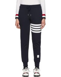 Thom Browne - Navy Classic Four Bar Lounge Pants - Lyst