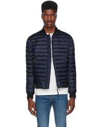 Paul Smith - Reversible Navy Down Bomber Jacket - Lyst