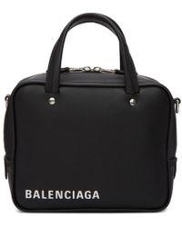 Balenciaga - Black Xs Triangle Square Bag - Lyst