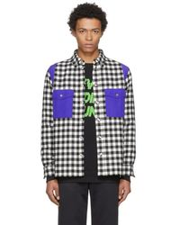 Tim Coppens - Black And White Check Wool Worker Shirt - Lyst